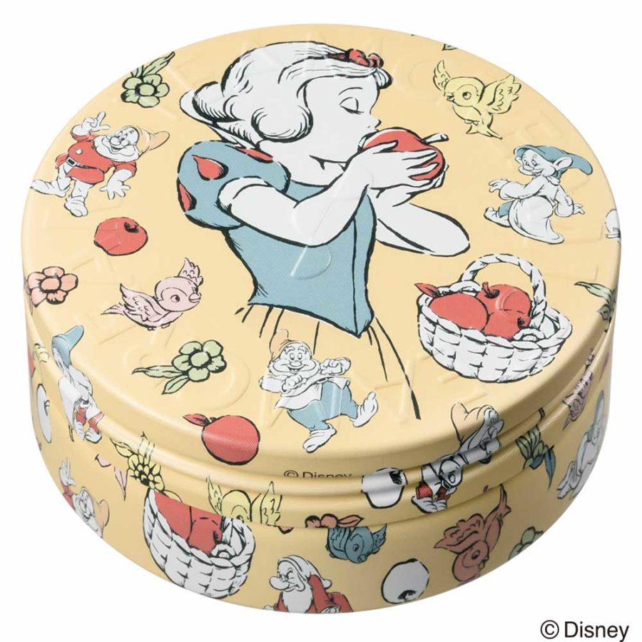 スチームクリームの缶デザイン、ディズニープリンセスコラボレーションの白雪姫