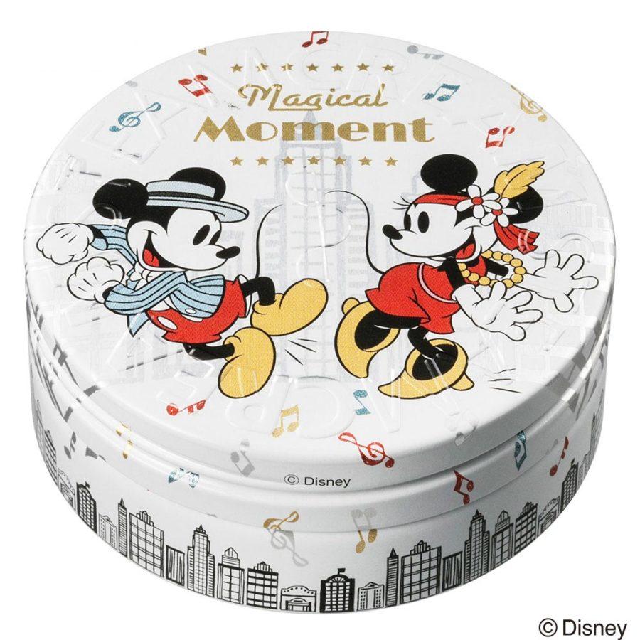 スチームクリームの缶デザイン、ディズニーコラボレーションのミッキーマウスとミニーマウス