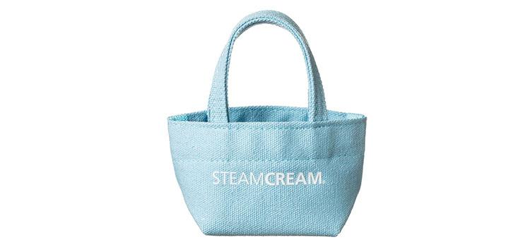 スチームクリームSTEAMCREAM2019年4月の新発売新デザインミニコットンバッグ(水色)